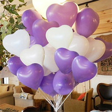 100pcs 12inch Heart-shaped Ballons Wedding Supplies Valentines Day Room Opening Celebration Birthday Decoration