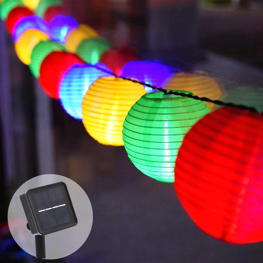 20 LED Solar String Lights Christmas Solar Powered Fairy Light Decorative Lantern Lighting For Home Garden Outdoor Waterproof