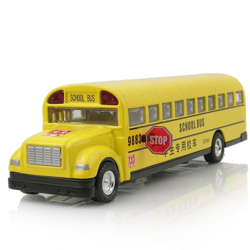 Rmz 13-year-old toy alloy toy car long bread bus school bus car model acoustooptical WARRIOR