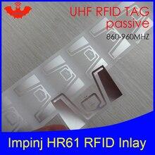 UHF RFID Метка HR61 инкрустация Impinj Monza R6 MR6 чип 860-960 МГц 900 915 868 МГц Higgs3 EPCC1G2 6C смарт-карта Пассивная RFID Метка