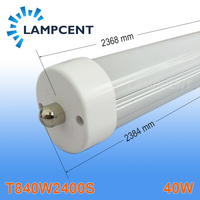 4pcs Lot LED TUBE 2400MM 8ft 2 4m 40W Single Pin FA8 110V High Quality T8