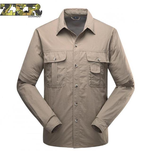 aab74677f1f Летние мужские быстросохнущие тактическая рубашка с коротким рукавом рубашка  в стиле милитари для мужчин Свободные Футболка