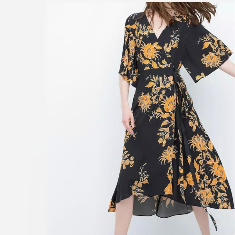 6dd5eedff72 ... aliexpress : buy 2016 new european fashion floral chiffon japanese  kimono style summer spring women dress ...