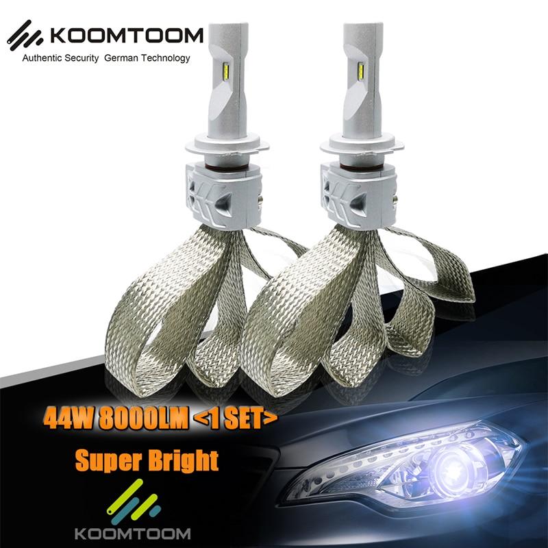 Koomtoom Car Headlight Bulbs K4 H1 H3 H4/9003/HB2 Hi/Lo 9004/HB1 Hi/Lo P13W PSX24W PSX26W LED Bulb Headlights K4