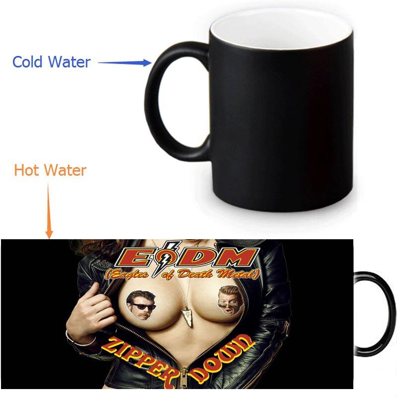 Eagle <font><b>Of</b></font> <font><b>Death</b></font> Metal morphing coffee mugs morph mug novelty heat changing color transforming <font><b>Tea</b></font> <font><b>Cup</b></font> 12 OZ/350ml