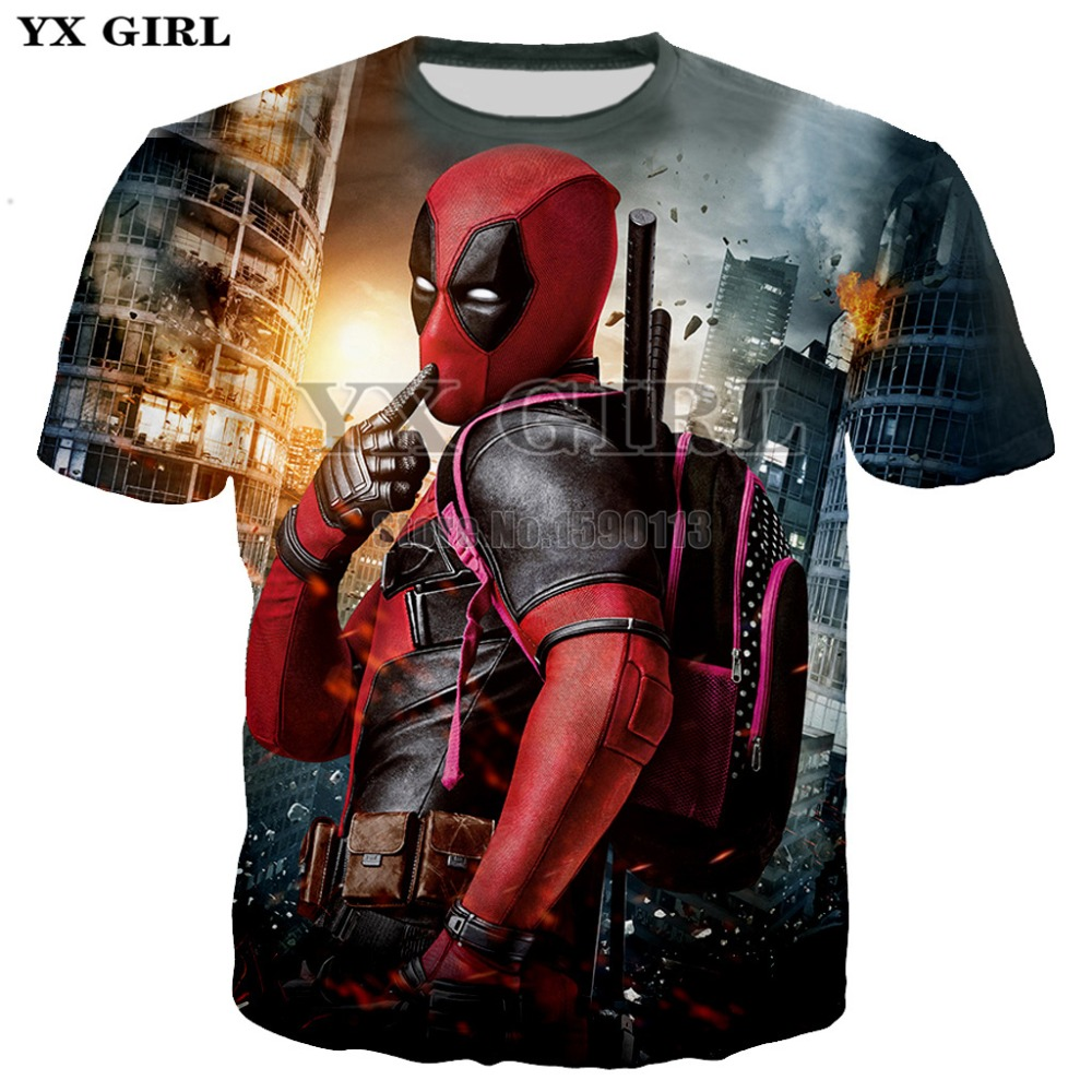 4659922997c Detail Feedback Questions about YX GIRL Newest Fashion American Comic  Badass Deadpool T Shirts Summer Men/women Short Sleeve Hipster Cool Tee Top  Clothes XS ...