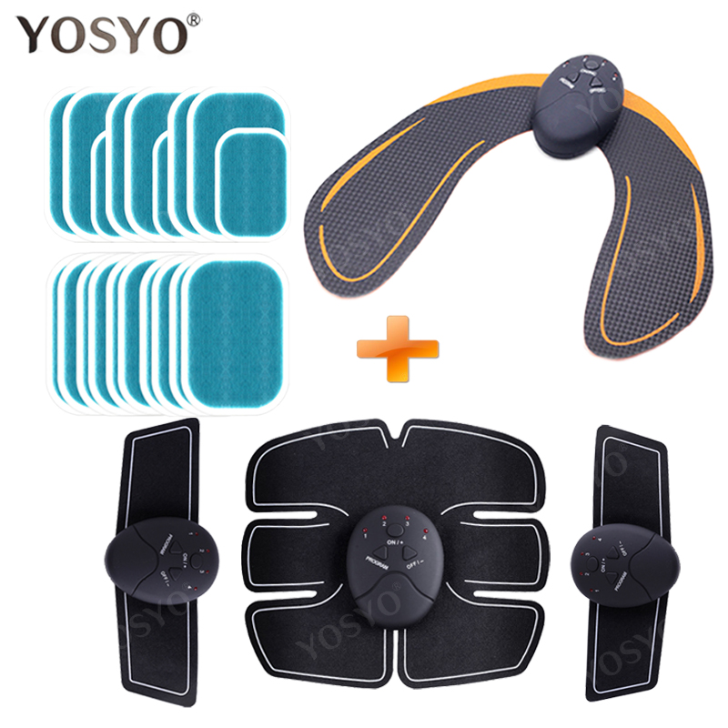 Smart EMS Hips Trainer Electric Muscle Stimulator Wireless Buttocks Abdominal ABS Stimulator Fitness Body Slimming Massager Knit(China)