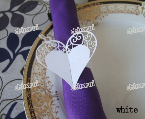 Festival Levert Kant Hart Papier Servetringen Wrap Clip Handdoek Tafel Voor Wedding Party Event Decors Restaurant Hotel Limpid In Zicht