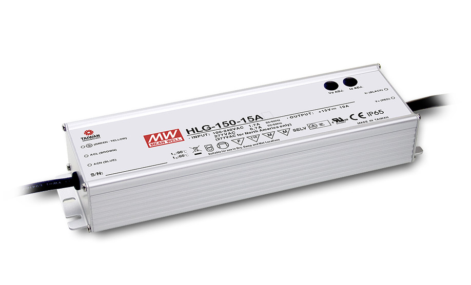 ФОТО [PowerNex] MEAN WELL original HLG-150H-24A 24V 6.3A meanwell HLG-150H 24V 151.2W Single Output LED Driver Power Supply A type