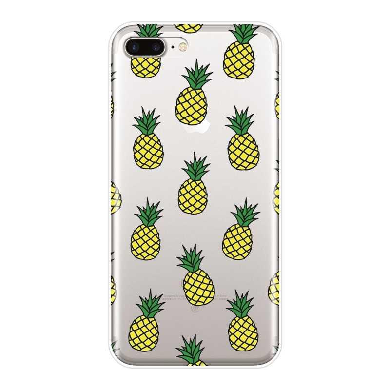 Para iPhone 6 S 6 S 7 S 7 8 X XR XS Max caja del teléfono de silicona de pino apple aguacate espalda suave cubierta para apple iPhone 7 6 6 S 6 S más caso