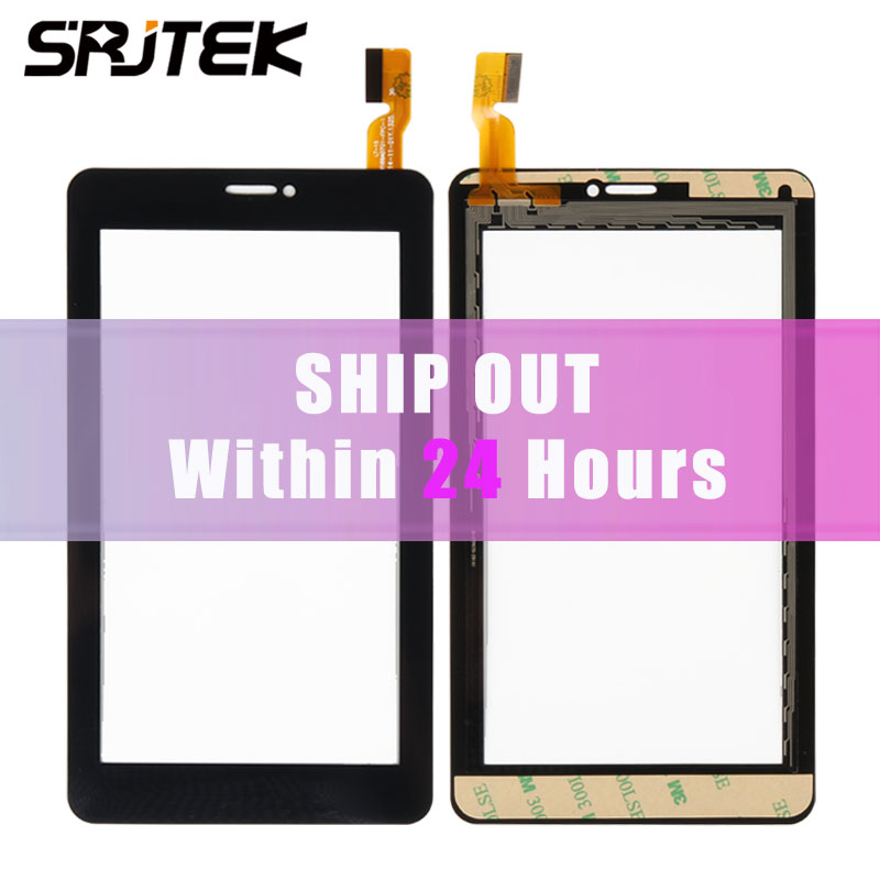 Srjtek New 7 inch For Explay D7.2 3G AD-C-701749-FPC Touch Screen Digitizer Sensor Panel Glass Replacement Parts black 7 inch ad c 701313 fpc for created qys x7s 04 0700 0216b capacitive touch screen glass digitizer panel replacement