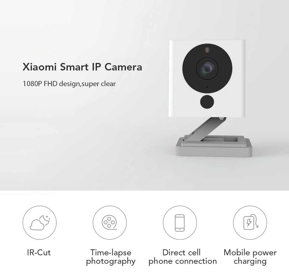 Original Xiaomi Mijia CCTV Xiaofang Zoom Digital cámara inteligente IP 110 grado F2.0 8X1080 P WIFI Control inalámbrico cámara de visión nocturna
