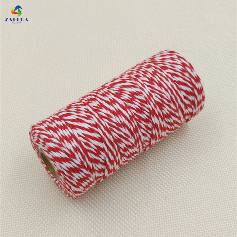 EIEYO 100 Meters Double Color Cotton Baker Twine Rope for DIY - Arts, Crafts and Sewing - Photo 3