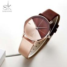 Shengke Quartz Clock Fashion Women Watches Vintage Ladies Watch Irregular Brand Geneva Female Bracelet