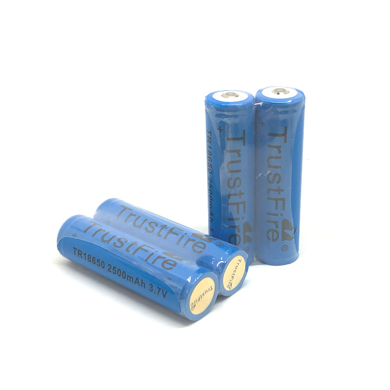 TrustFire Protected TR18650 2500mAh 3.7V 18650 Rechargeable Battery Lithium Batteries With PCB Power Source For LED Flashlights