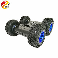 DOIT C3 4WD Smart Robot Car With High Hardess Of Steel 4 DC 12V Motor 130mm