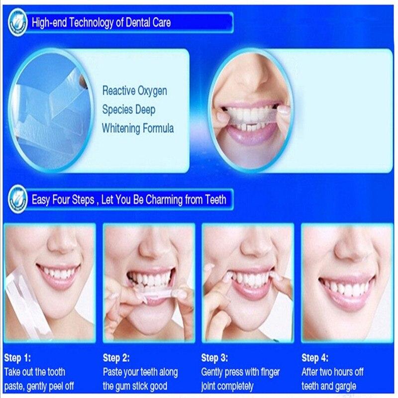 5 шт. 3D белый гель Отбеливание зубов полоски Гигиена полости рта Отбеливание зубов гель полоски удаляют Красители отбеливание зубов инструм...
