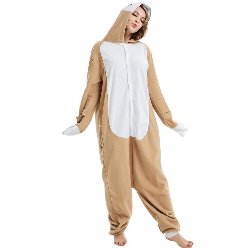 Loose Cartoon Character Sloth Onesies Adult Pajamas Polar Fleece Kigurumi For Halloween Onepiece Winter Jumpsuit Pijama Cosplay (1)