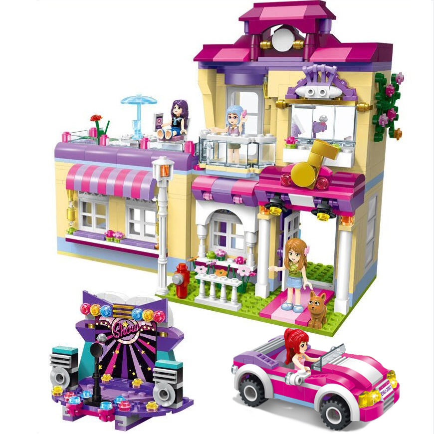 ENLIGHTEN City Girls Princess Star Training House Building Blocks Sets Bricks Model Kids Gift Toys Compatible Legoings Friends