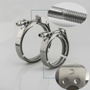 """Image 3 - Universal Stainless steel  2"""" 2.5"""" 3"""" 3.5"""" exhaust downpipe v band clamp v band clamps V clamp clip 1.5 2.5 3 3.5 inch"""