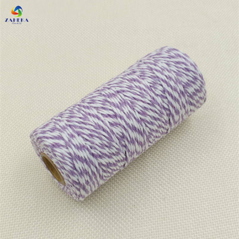 EIEYO 100 Meters Double Color Cotton Baker Twine Rope for DIY - Arts, Crafts and Sewing - Photo 5