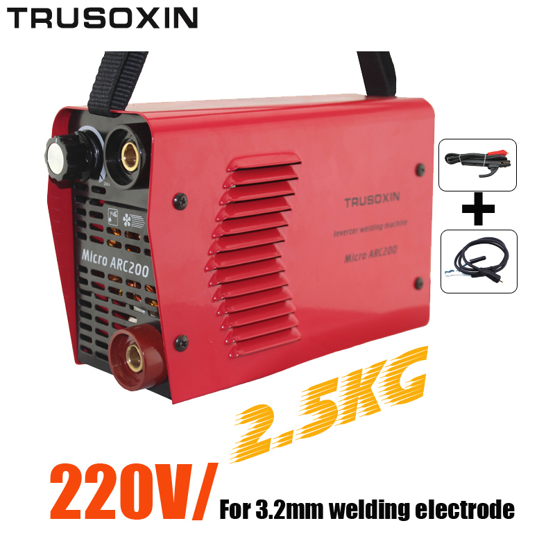 For 3.2MM Electrode 220V 2.5kg IGBT Inverter DC Hand Protable Welding Machine/Welding Equipment Welder With Accessories new high quality welding mma welder igbt zx7 200 dc inverter welding machine manual electric welding machine