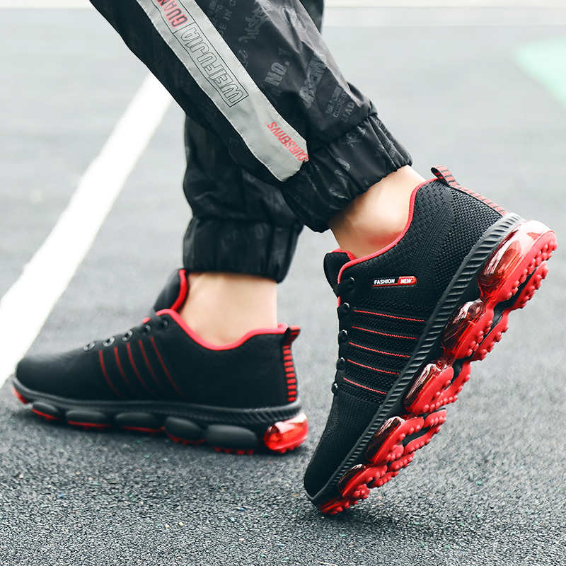 Mens Sports Shoes Non-slip Sneakers Damping Mesh Wear-resistant Flying Weave Traveling Superstar Running Shoes