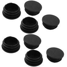 100% Новые пластиковые круглые шапки трубки вставки охватывает 38 мм Диаметр 8 шт. черный