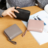 Fashion Ladies Leather Wallets Female First Layer Of Cowhide Zipper Coin Purse Women Genuine Leather Card