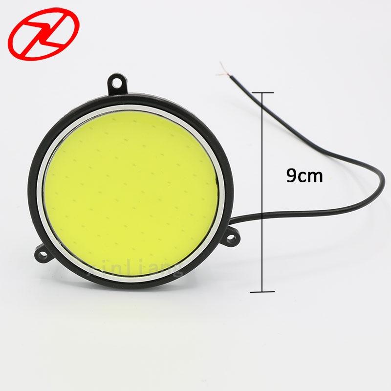 2PCS Super Parlaq LED DRL Gündüz işləyən Duman Sürmə - Avtomobil işıqları - Fotoqrafiya 6