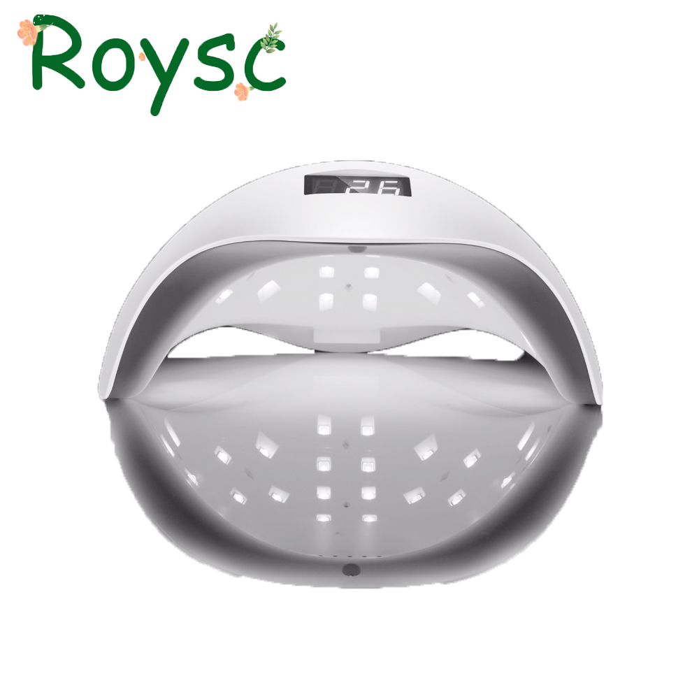 48W UV LED Auto Sensor Nail Lamp Dryer Sun5 Gel Polish Curing Light with Bottom 30s/60s Timer LCD display White Light 18k 48w led uv lamp nail with lcd display screen professional nail dryer curing uv led gel nail tools with automatic sensor