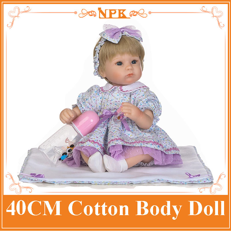 16 NPK Handmade Reborn Baby Doll Soft Silicone Cloth Body New Born Babies Boneca As Girls Toys Children Birthday Gift Brinquedo