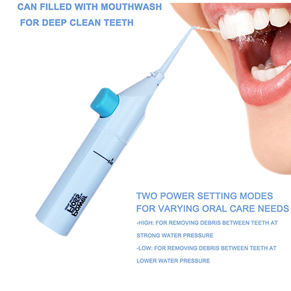Ogreen Portable Air Tooth Cleaner,Portable Water Flosser for Travel Dental Device Teeth Pick Cleaner,Oral Irrigator,No Battery 2017 teeth whitening oral irrigator electric teeth cleaning machine irrigador dental water flosser professional teeth care tools