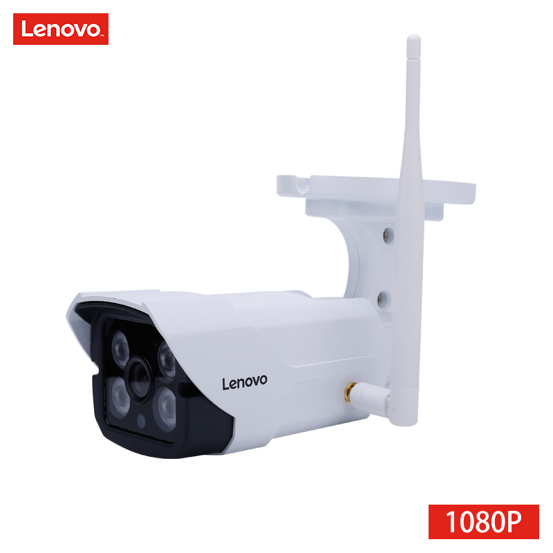 LENOVO IP Camera wifi 1080p IR Camera cctv outdoor ip surveillance camera Waterproof Memory Card night Camera Night Vision hd smar outdoor bullet ip camera sony imx323 sensor surveillance camera 30 ir led infrared night vision cctv camera waterproof