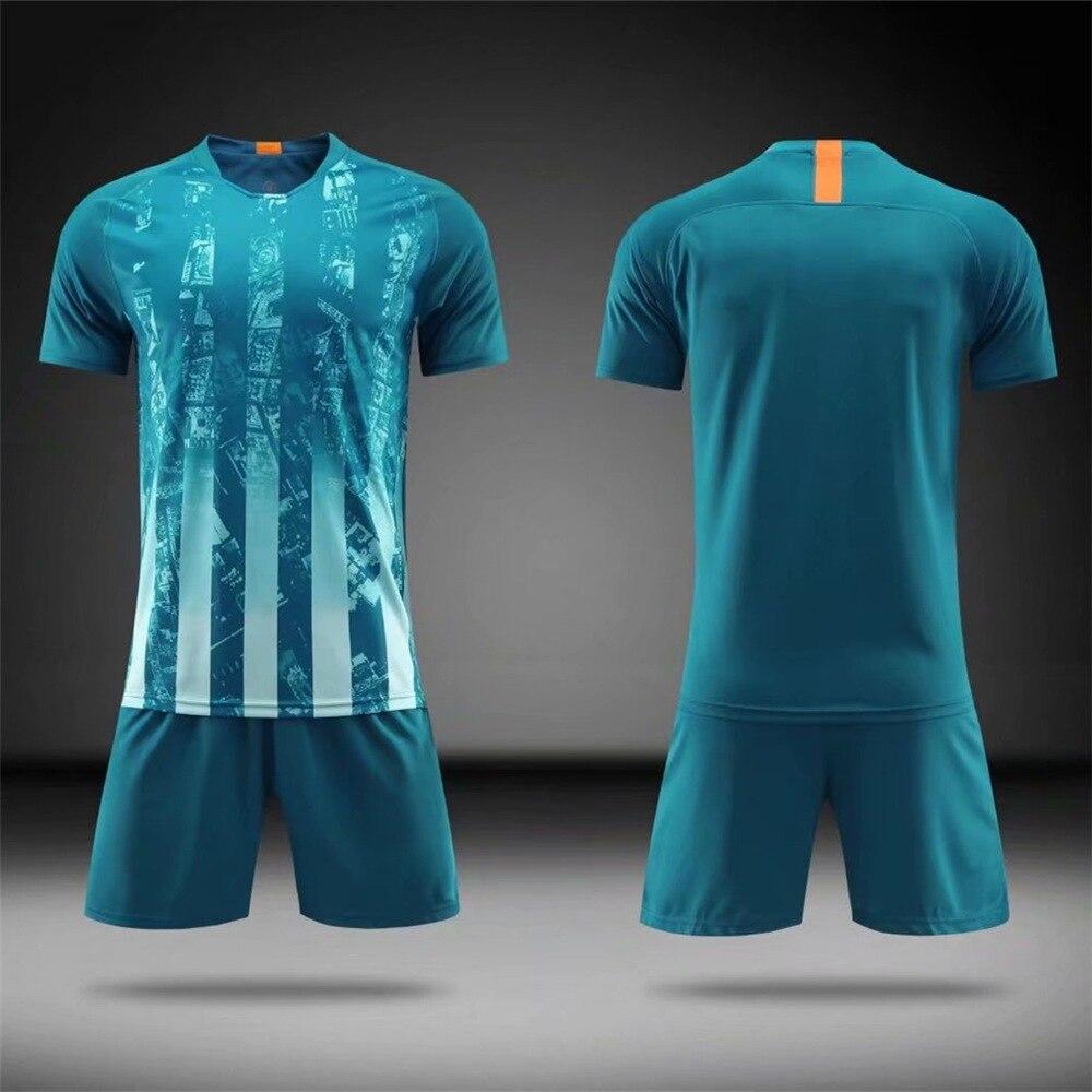 7637a0290 18/19 Blank Football jerseys Adults & child Short Sleeve Soccer Jerseys &  shorts Tracksuit