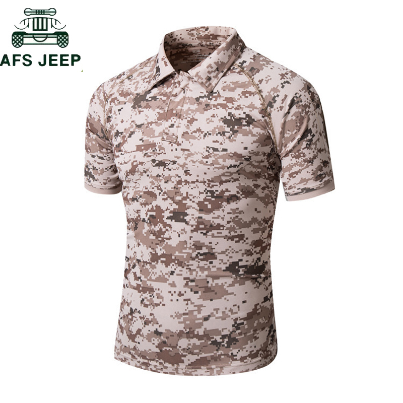 New Camouflage Tactical t shirt Men Anti-Wrinkle Breathable Quick Dry Military Army Tactical Camo <font><b>TShirts</b></font> Men Camisetas hombre image