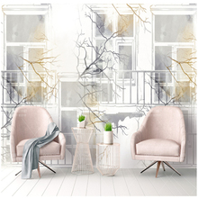 Customize European 3d Murals Wallpaper Cities Watercolor Bedding Room Living