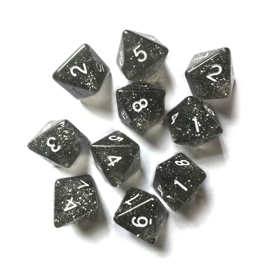 10pcs D8 Dices 8 Sided Polyhedral Dice For RPG MTG Dungeons and Dragons Poker Party Gambling Table Funny Games Portable Dices