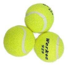 aead48dab5 3 piezas unids pelota de entrenamiento de tenis para principiantes de  entrenamiento amarillo alta elasticidad pelotas de tenis p.