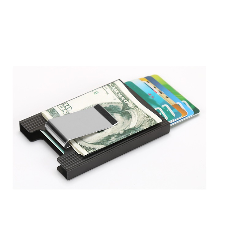 Slim Card Holder Wallet RFID Blocking Hard Case Travel Stainless Steel Men Women