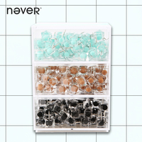 Never Color Push Pins Thumbtack Metal Thumb Tacks Square Head Metal Safety Pins For Cork Board