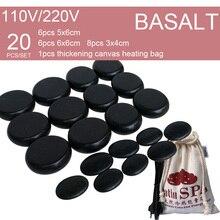 New! 20pcs/set Hot stone SE pendant set Beauty Salon SPA with heater bag 20pcs set составление инструменты