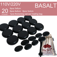 New Hot stone SE pendant set Beauty Salon SPA with high quality thi canvas heater bag 20pcs/set