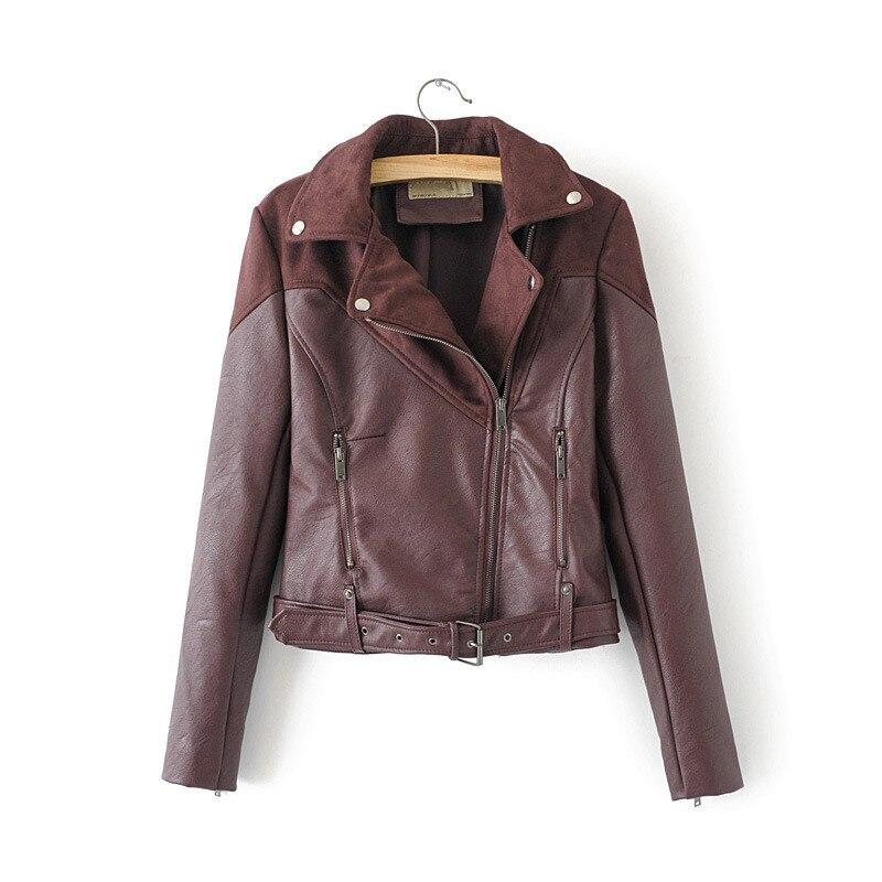 WSYORE Motorcycle Jacket 2019 New Spring   Suede   Jacket Zipper Long-sleeve PU Coat Women   Leather   Jacket Bomber Jackets NS923