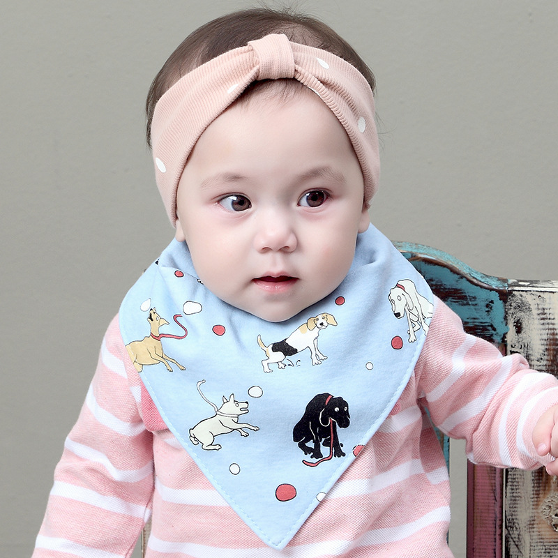 2018 New Baby Cartoon Animal Bibs Scarf Newborn Infant Feeding Clothes Bandana Drool Bib Infantil Boys Girls Dress Accessory