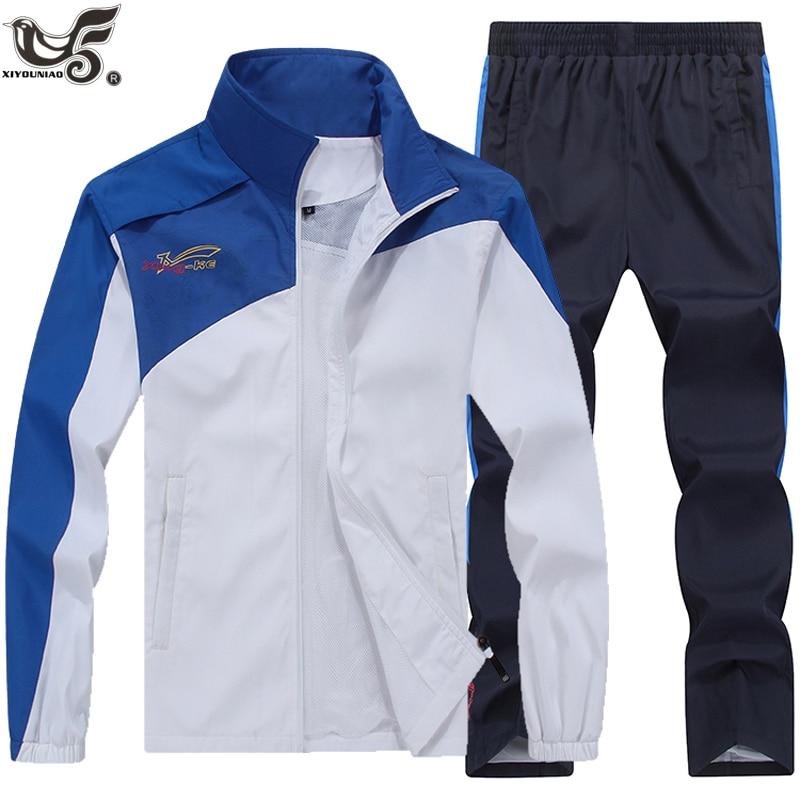 New Brand Men's Set Spring Autumn Men Sportswear 2 Piece Set Sporting Suit Jacket+Pant Sweatsuit Male Clothing Tracksuit Set