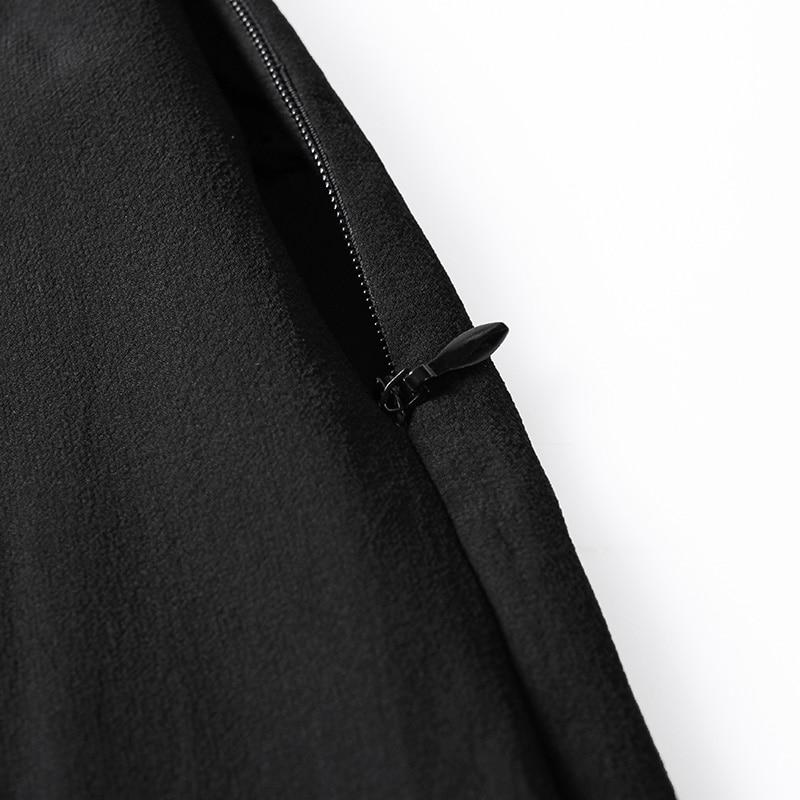 Haute Sexy Pokwai Taille Soie Décontracté Printemps 2019 Couture Gaze Nouvelle Pantalon De Black Split Tn6In