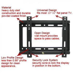 Image 2 - عالمي 25 كجم 14 ~ 42 بوصة رف لتثبيت التليفزيون على الحائط إطار شاشة تلفزيون مسطحة مسطحة مع أداة مستوى ل HDTV شاشة تلفزيون مسطحة