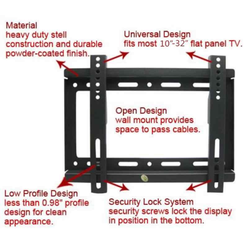 support mural tv universel 25kg 14 42 pouces cadre tv a ecran plat reglable avec instrument de niveau pour hdtv