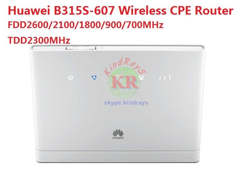 Entsperrt Huawei B315 B315s-607 LTE FDD700/900/1800/2100/2600 mhz TDD2300Mhz Mobile Wireless CPE Router PK E5172 E5771 b970